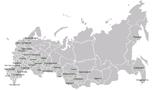 Карта России и Европы